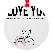 ilu bunny butz Ornament