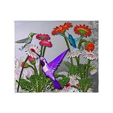 Humingbird garden Throw Blanket