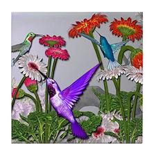 Humingbird garden Tile Coaster