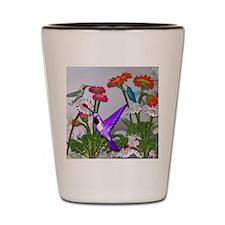 Humingbird garden Shot Glass