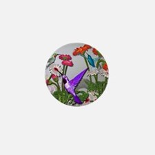 Humingbird garden Mini Button