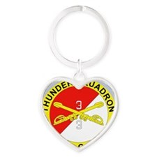 3-3D ARMORED CAVALRY REGIMENT Heart Keychain