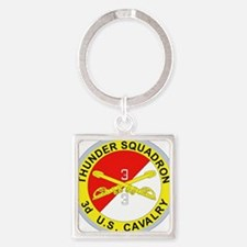 3-3D ARMORED CAVALRY REGIMENT Square Keychain
