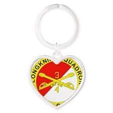4-3D ARMORED CAVALRY REGIMENT Heart Keychain