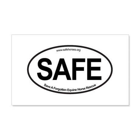 SAFE_carsticker 20x12 Wall Decal