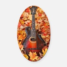 Journal_Gibson_Fall_Leaves1 Oval Car Magnet