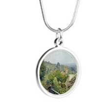 Louveciennes, or The Heights Silver Round Necklace