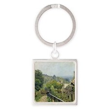 Louveciennes, or The Heights at Ma Square Keychain