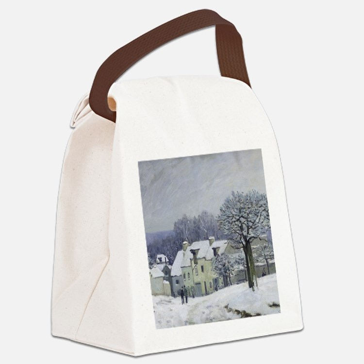 The Place du Chenil at Marly-le-R Canvas Lunch Bag