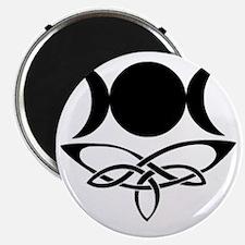 BlackCeltTripleMoon Magnet
