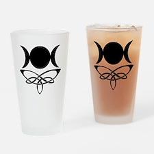 BlackCeltTripleMoon Drinking Glass
