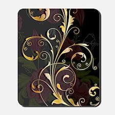Gold Black Floral (4G slider) Mousepad
