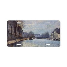 View of the Canal Saint-Mar Aluminum License Plate