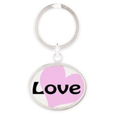 iLove Oval Keychain