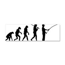 The Evolution Of The Fly Fisherm Car Magnet 10 x 3