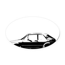 indexshirt Oval Car Magnet