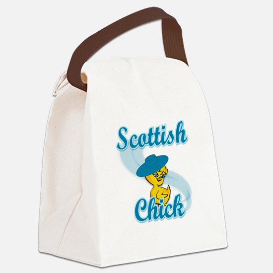 Scottish Chick #3 Canvas Lunch Bag