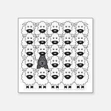"bouvierInTheSheep Square Sticker 3"" x 3"""