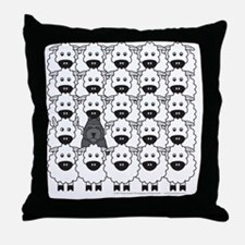 bouvierSheep_mpad Throw Pillow