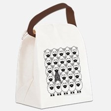 bouvierSheep_mpad Canvas Lunch Bag