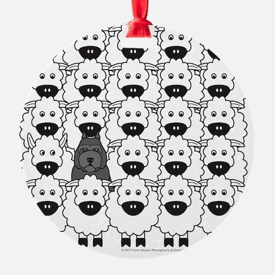 bouvierSheep_mpad Ornament