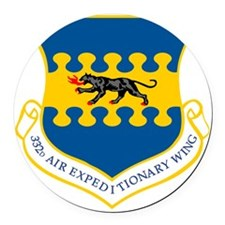 332 Air Expeditionary Wing Round Car Magnet