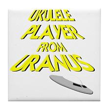Ukulele Player From Uranus Tile Coaster