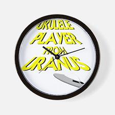 Ukulele Player From Uranus Wall Clock