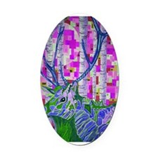 abstract elk3 Oval Car Magnet