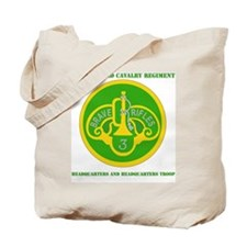 3RD ACR HQ AND HQ TROOP  WITH TEXT Tote Bag