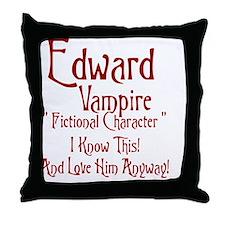 Edward Vampire Throw Pillow