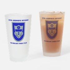 DUI-2ND BCT-82ND AIRBONE DIV. WITH  Drinking Glass