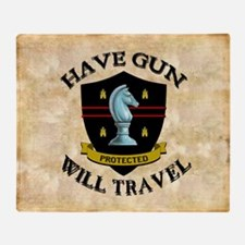 havegun_mousepad Throw Blanket