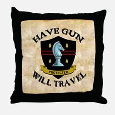 havegun_mousepad Throw Pillow