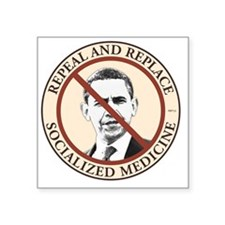 """jan11_repeal_socialized_med Square Sticker 3"""" x 3"""""""