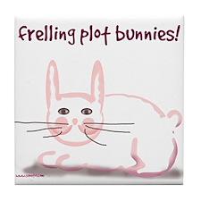 Frelling Plot Bunnies Tile Coaster