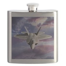 clouds flag and F22 square copy Flask