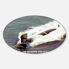 bluefish sticker Sticker (Oval)