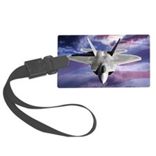 clouds flag and F22 copy Luggage Tag