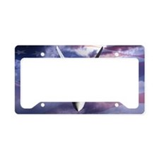 clouds flag and F22 copy License Plate Holder