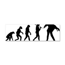 The Evolution Of The Zombie Car Magnet 10 x 3