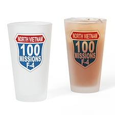 100 Missions F-4 Drinking Glass
