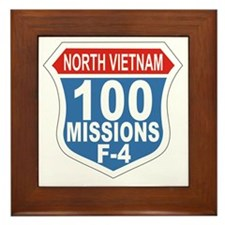 100 Missions F-4 Framed Tile