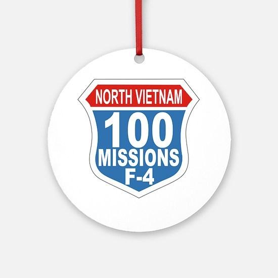 100 Missions F-4 Round Ornament