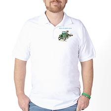 Pegatina3x5WillysCJ2Averde T-Shirt
