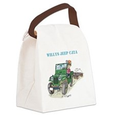 Pegatina3x5WillysCJ2Averde Canvas Lunch Bag