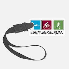 swim bike run images Luggage Tag