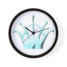 Crown for Hat AQUA copy Wall Clock