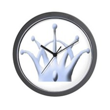 Crown for Hat Blue copy Wall Clock