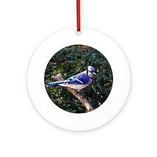 bluejayCir Round Ornament